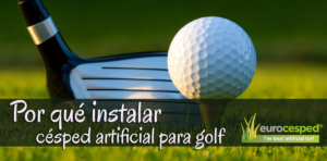 césped artificial para golf